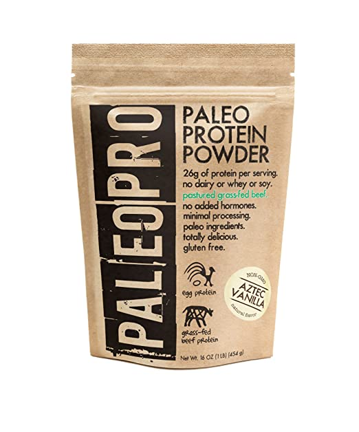 PaleoPro - Paleo Protein Powder - Gluten Free, no Dairy, no whey, no Soy, pastured Grass-fed Beef, no Added Hormones, Minimal Processing, Paleo Ingredients, Delicious Taste - 1lb/454g best paleo powder