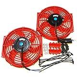 Set of 2 Universal 10 inch Slim Fan Push Pull