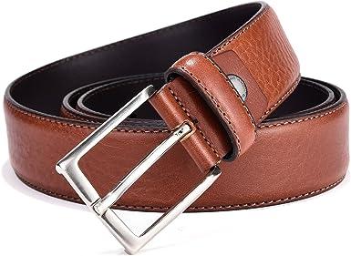 Premium Design Belt for jeans Handmade from Italian leather Brown