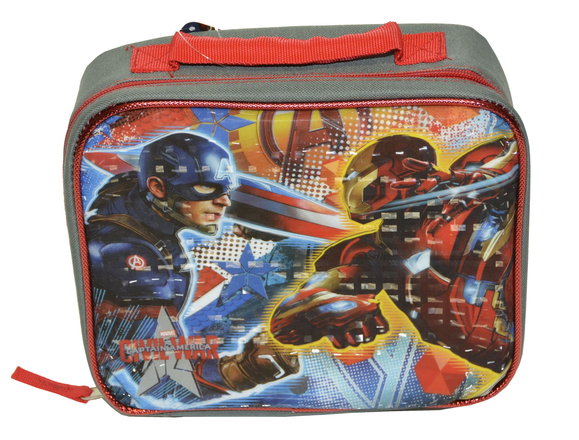 Marvel Avengers Captain America-3 Civil War Boys Lunch Bag (One size, Gray/Multi)