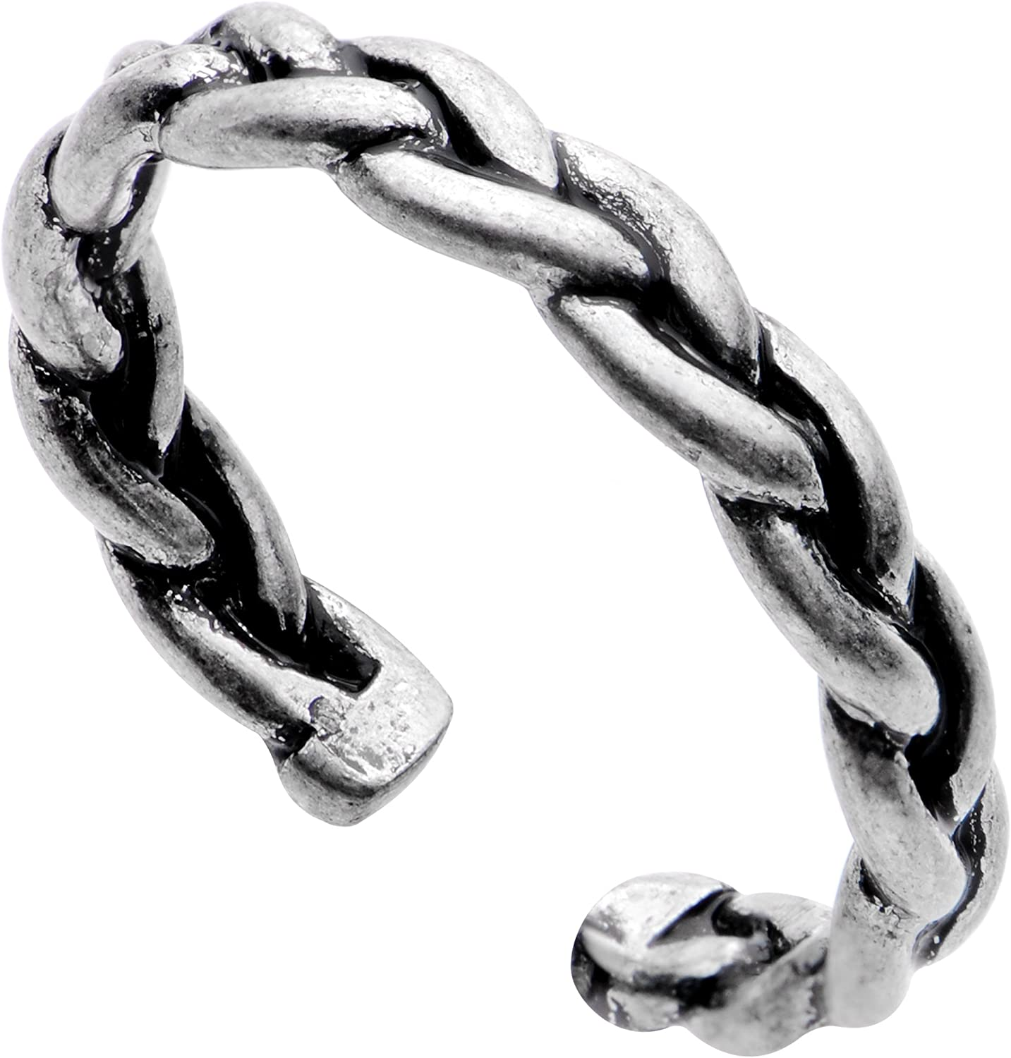 Body Candy Silver Plated Braided Rope Toe Ring