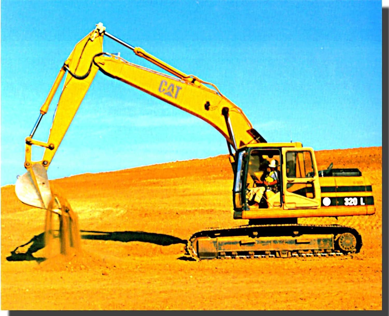 8x10 Wall Decoration Art Print Picture Caterpillar Excavator Bulldozer Two Set Truck Poster