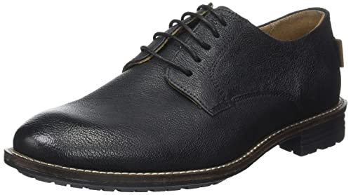 Levis Huntington, Zapatos de Cordones Derby para Hombre, Negro (Regular Black),