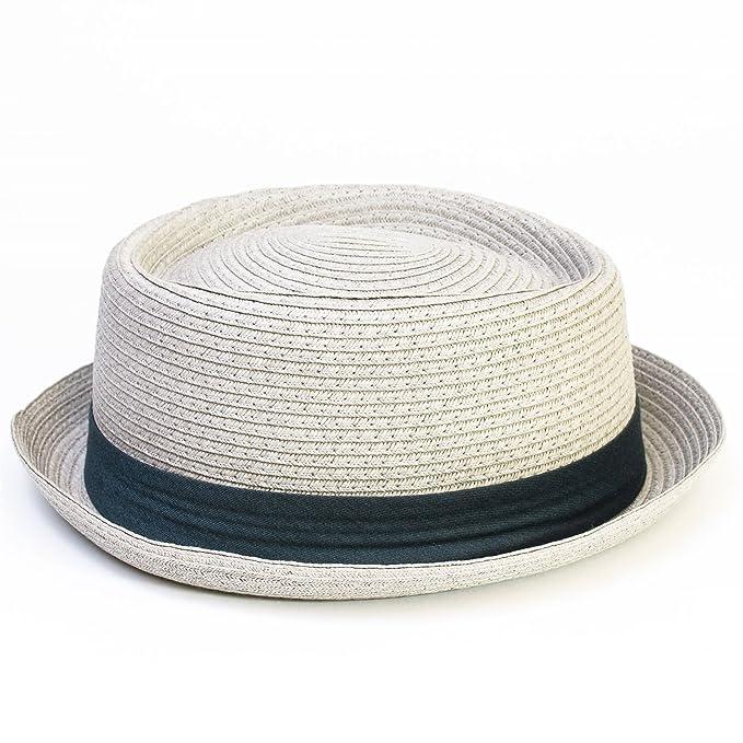 d18aa278ee0c2 Hawkins - Sombrero Pork Pie - para hombre gris gris claro Small  Amazon.es   Ropa y accesorios