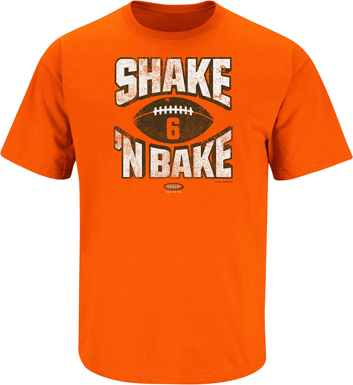 Smack Apparel Cleveland Football Fans. Shake N Bake Orange T-Shirt (Sm-5x)