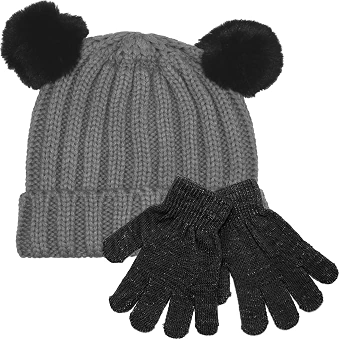 Kentop Childrens Pilot Hat Childrens Hat for Autumn And Winter 1 PCS Black