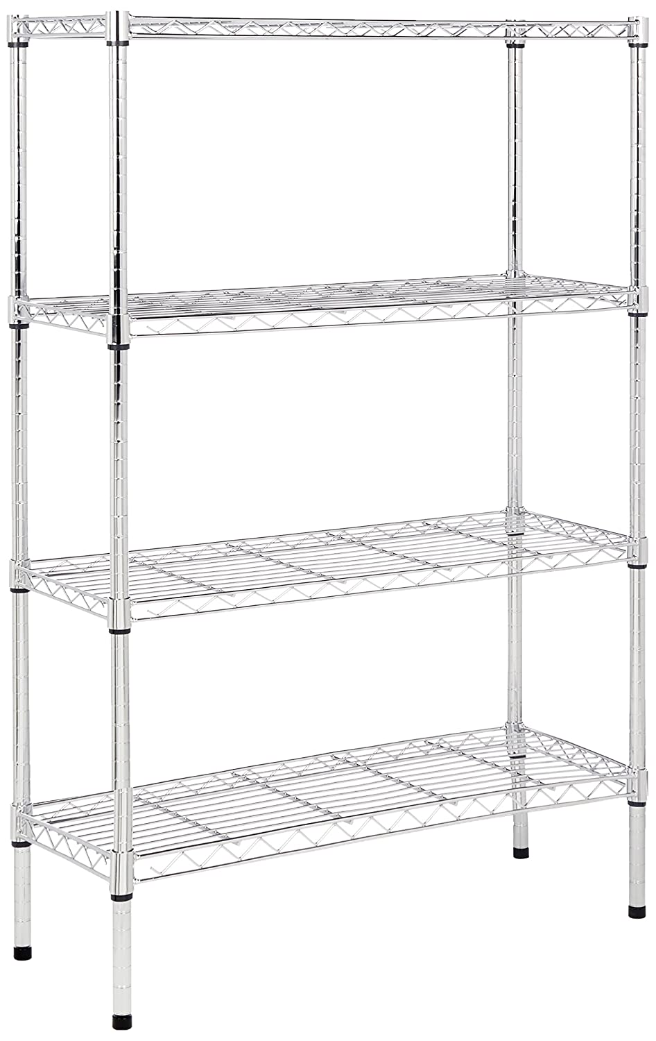 Amazon.com: AmazonBasics 4-Shelf Shelving Unit - Chrome: Home ...