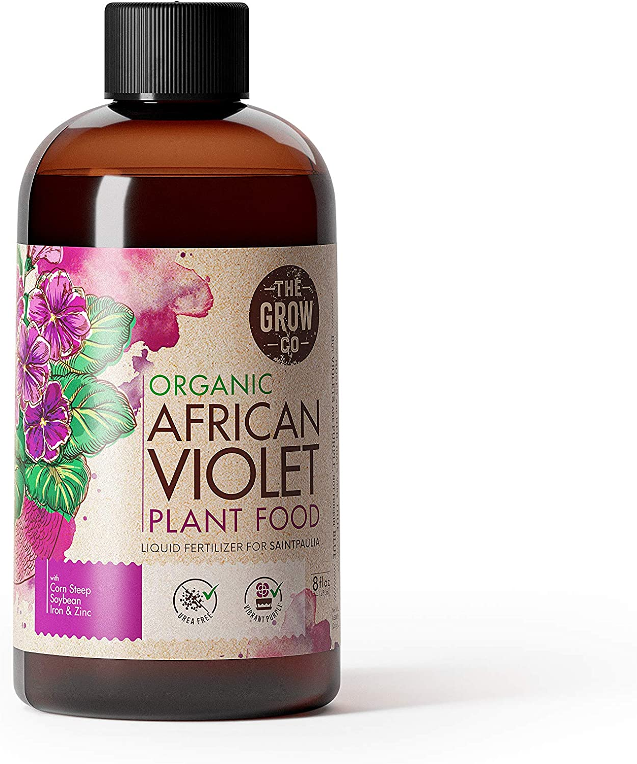 African Violet Plant Food - Organic Liquid Fertilizer for Potted Indoor and Outdoor Houseplants - Bloom Booster Formula for Healthy Beautiful Flowers (8 oz)