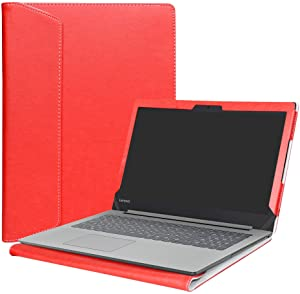 """Alapmk Protective Case Cover For 15.6"""" Lenovo Ideapad 320 15 320-15ikb 320-15iap 320-15abr/Ideapad 330 15 330-15IKB 330-15AST/Ideapad 520 15 520-15ikb Laptop(Note:Not fit Ideapad 320s/330s),Red"""