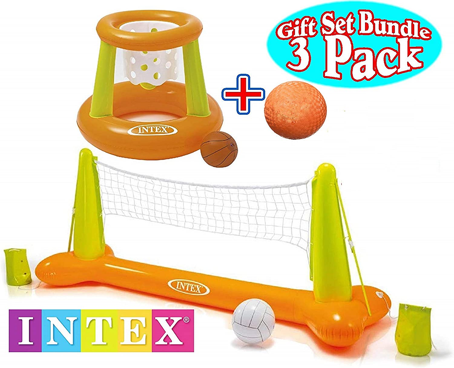 Intex Floating Volleyball & Basketball Pool Game