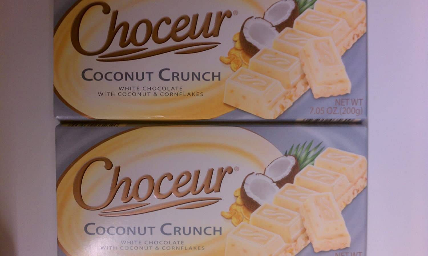 Amazon.com : Choceur White Chocolate -- Coconut Crunch (Pack of 4 ...