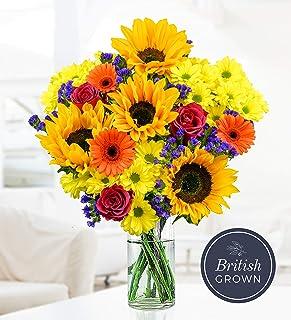 British Summer Bouquet - Free Chocs - Prestige Flowers - Flower Delivery - Sunflower Bouquet - Summer Flowers - Next Day Flowers