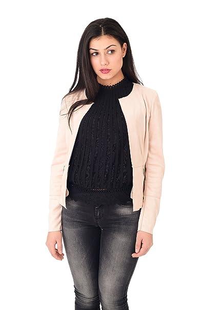 24730027cd Only Giacca Aperta Donna Cipria: Amazon.it: Abbigliamento