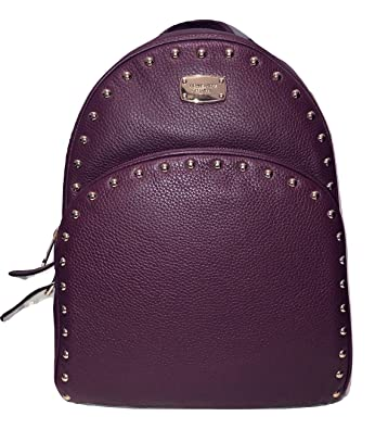 46b2706b8718 ... best price michael kors large abbey studded plum leather backpack 91463  91b4b