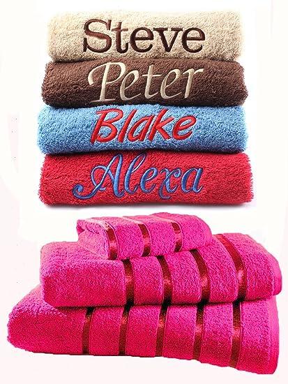 Personalizado Bordado toallas Ideal regalo de cualquier nombre, toalla para la cara, toalla de