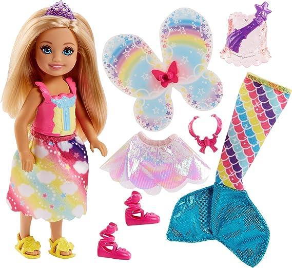 Barbie Dreamtopia Rainbow Cove Chelsea Doll And Fashions Set, Blonde