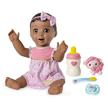 Amazon Com Luvabella Brown Hair Interactive Baby Doll With