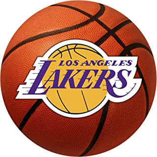 """product image for FANMATS 10209 NBA Los Angeles Lakers Nylon Face Basketball Rug,26"""" diameter"""