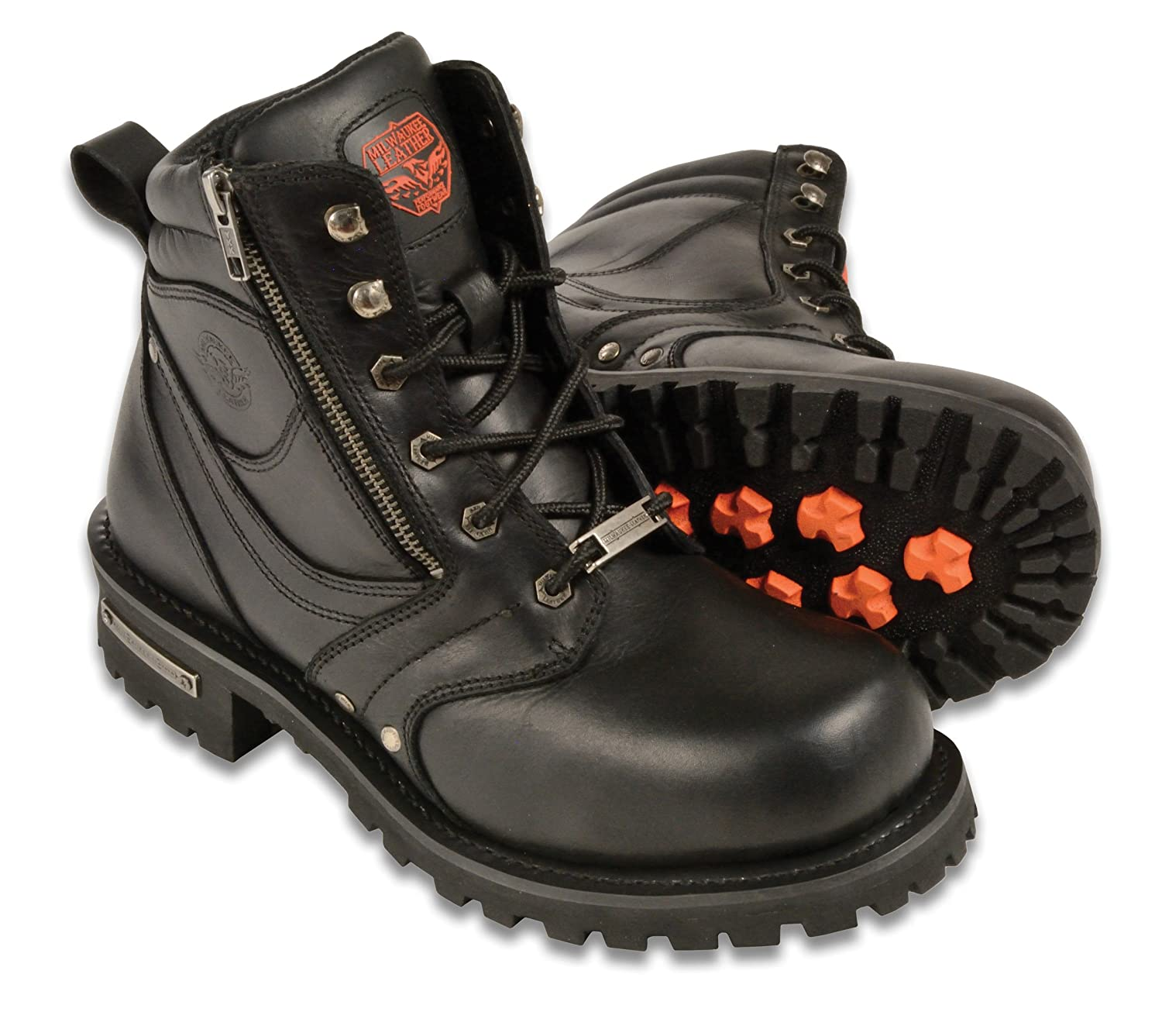 Milwaukee Men's Wide Boots with Zip and Laces (Black, Size 11) Shaf International Inc. MBM9050W-BLK-11W