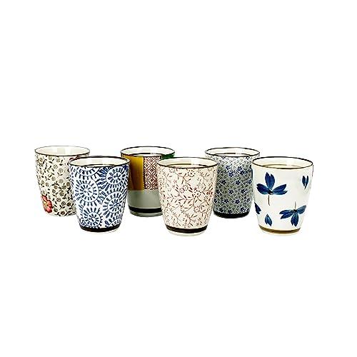 Ard'time EC-6CHIBATAS Chiba Lot de 6 Tasses à thé Céramique Multicolore 30 x 21 x 15 cm 120 ml