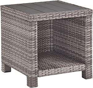 Signature Design by Ashley P440-702 Salem Beach End Table, Gray