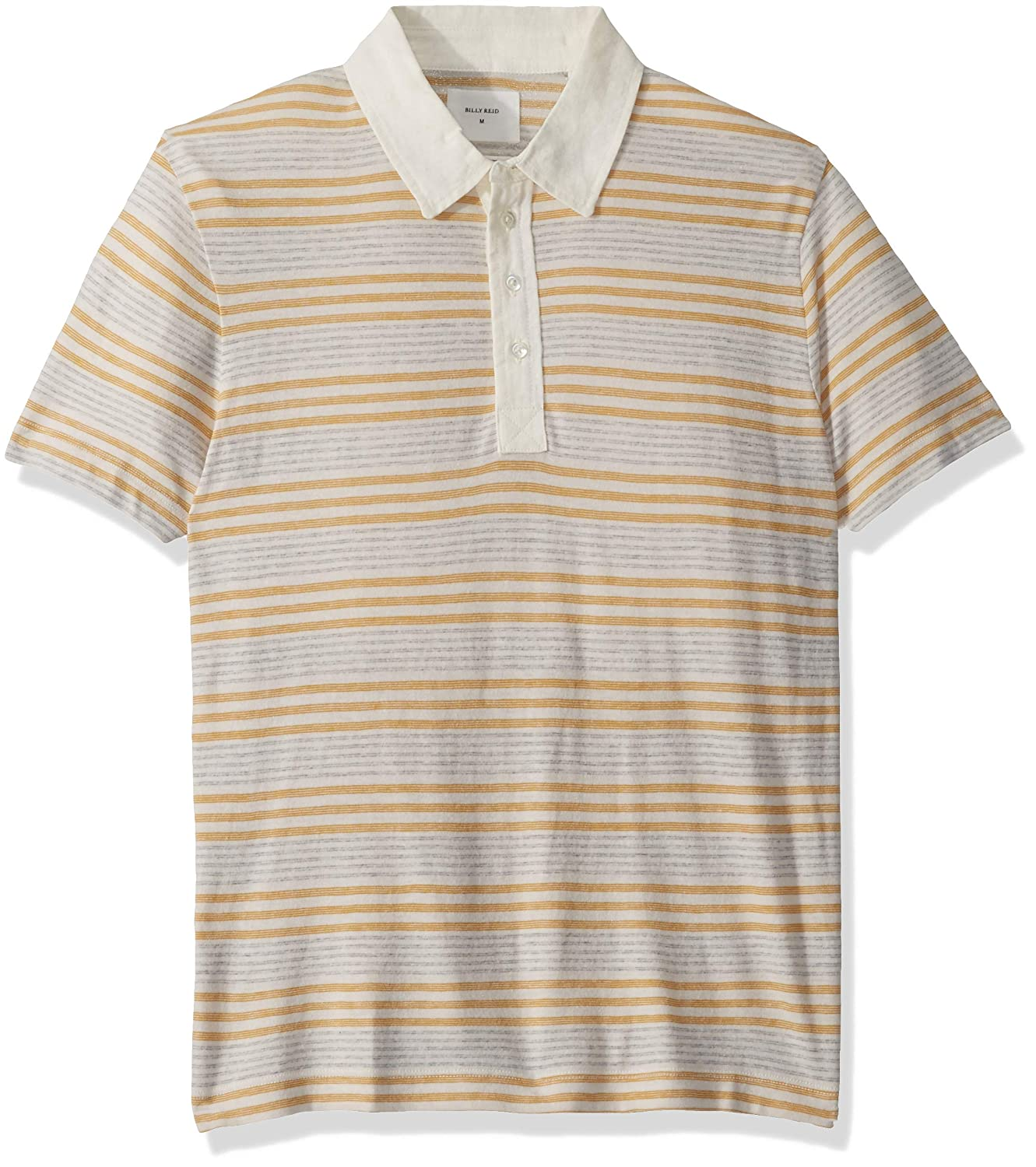 Billy Reid Mens Short Sleeve Linen Collar Cashmere Polo with Pocket