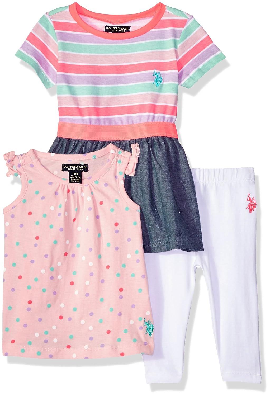 宅配 U.S. Neon Polo Assn. PANTS ベビーガールズ 18 Elastic Months Elastic Waist B077SZMJCC Dress Shoulder Tie Tunic Solid Legging Neon Coral B077SZMJCC, スキルアルファー:b4b12138 --- a0267596.xsph.ru