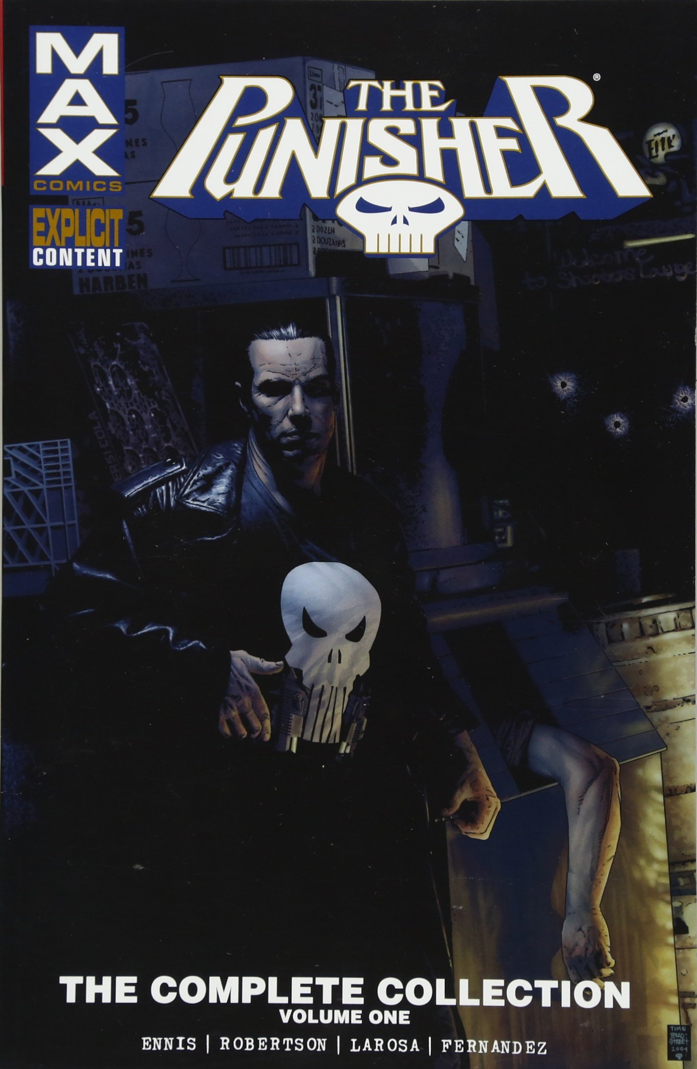 2 MAX Comics Graphic Novel Comic Book Punisher The Complete Collection Vol