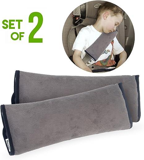 gris CYBERNOVA Coussin de ceinture de s/écurit/é pour v/éhicule automobile coussin dassise pour enfant coussin de s/écurit/é pour si/ège de b/éb/é pour b/éb/é soutien pendant le voyage