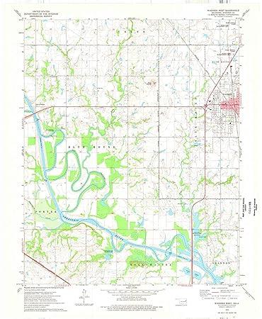 Amazon.com: Oklahoma Maps - 1974 Wagoner West, OK USGS ...