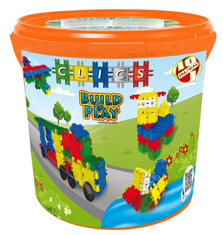Clics - Drum Set Costruzioni Costruire e Giocare, 9 in 1