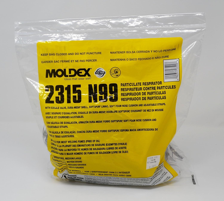 M/L N99 Premium Welding Particulate Respirator w/valve & adjustable cloth straps - (2 Packs; 10/Pack) - R3-2315N99: Amazon.com: Industrial & Scientific