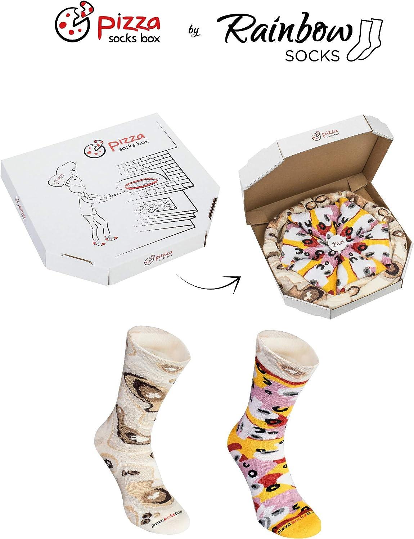 Rainbow Socks - Pizza Caprichosa Mujer Hombre - 4 pares de Calcetines: Amazon.es: Ropa y accesorios