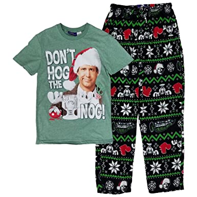 Christmas Vacation Don t Hog the Nog Lounge Sleep Pajama Set - Small ... 36eb22b37