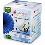 Everteen 100% Natural Cotton Ultrathin Unscented Sanitary Napkins 10 Count