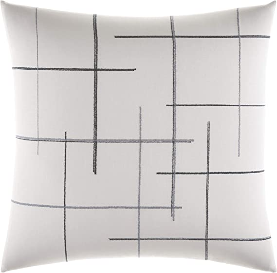 Euro Sham Vera Wang Shibori Grid White Revman International USHSGY1075540