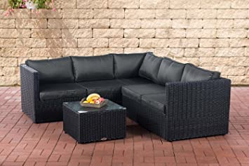 Amazonde Clp Poly Rattan Lounge Set Genero 5mm L Garten Set Mit 5