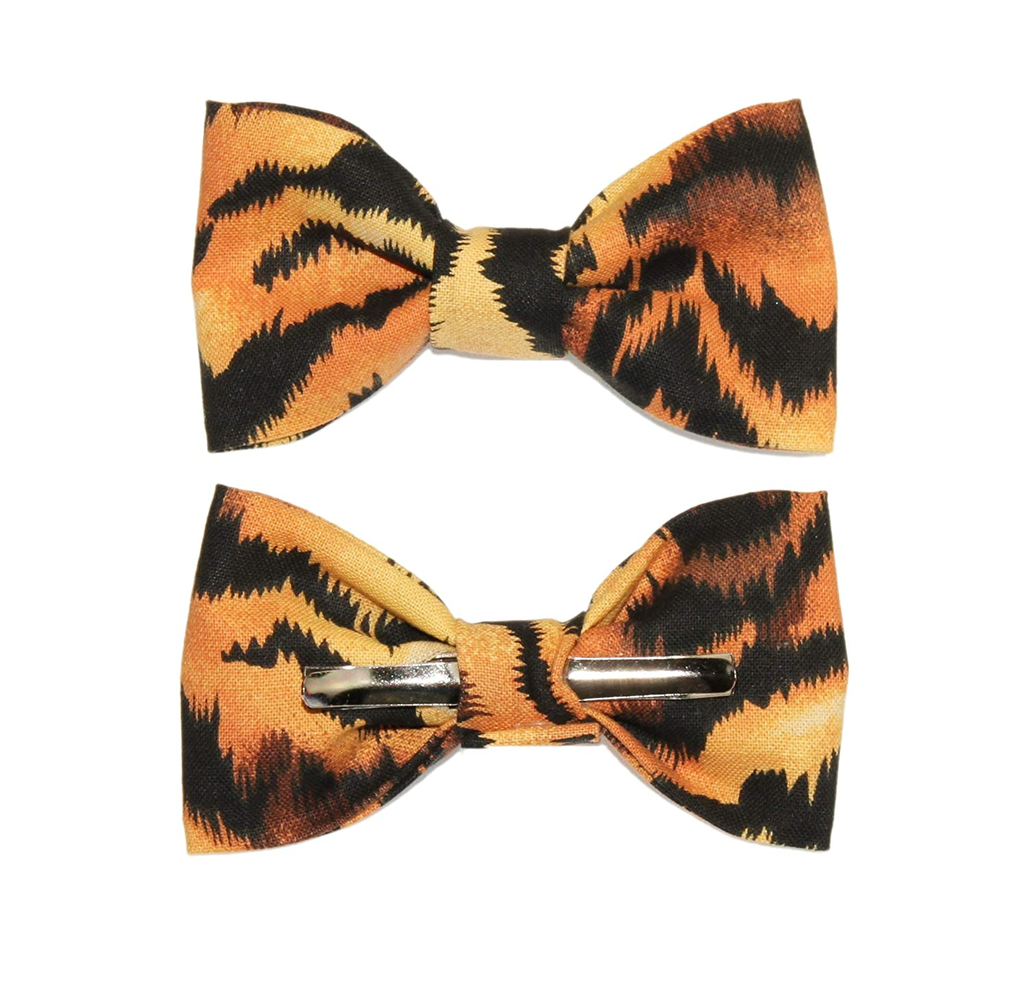 Toddler Boy 4T 5T Tiger Print Clip On Cotton Bow Tie amy2004marie