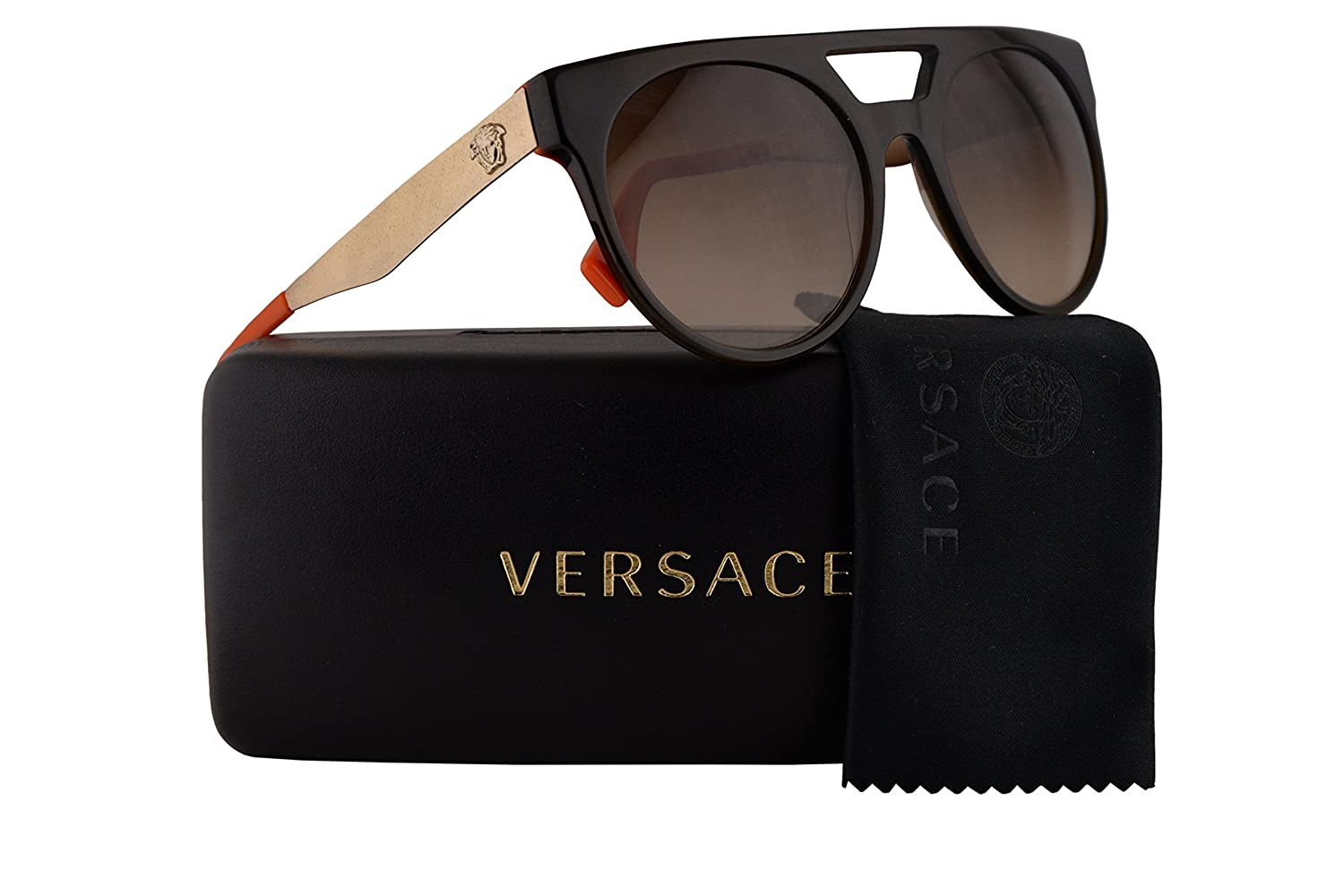 f19feaf0a40d Amazon.com  Versace VE4339 Sunglasses Green Crystal w Brown Gradient Lens 523513  VE 4339  Clothing