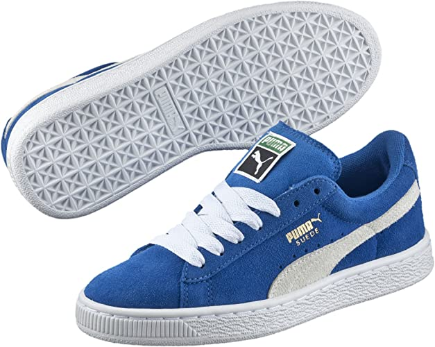 puma bleu suede
