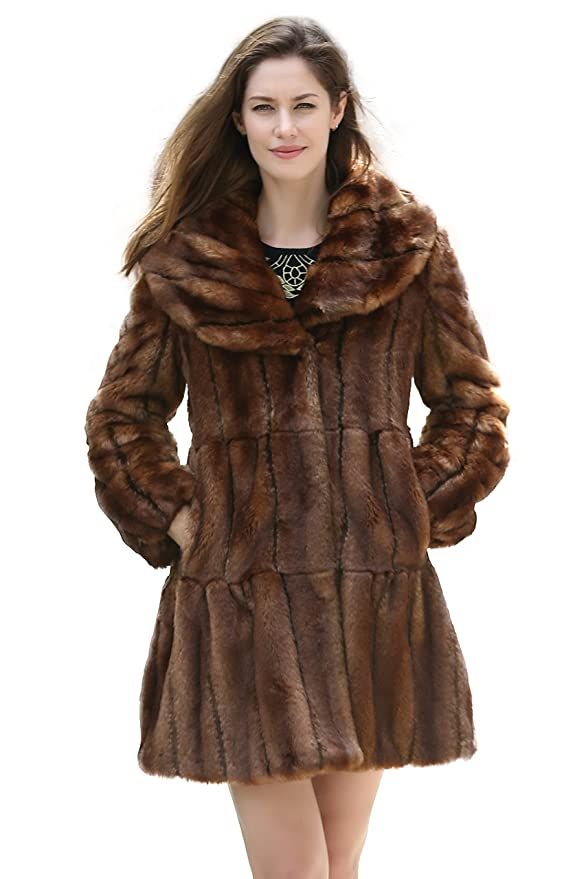 Retro Vintage Style Coats, Jackets, Fur Stoles  Vintage Style Luxury Faux Fur Coat with Lotus Ruffle Collar $249.00 AT vintagedancer.com
