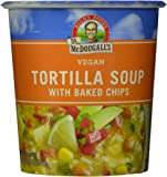 Dr. McDougall's Right Foods Vegan Tortilla Soup with Baked Chips, 2-Ounce Cups (Pack of 6)