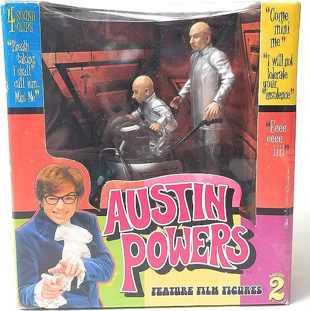 Vintage 1999 Austin Powers Mcfarlane Toys Lot Of 5 Action Figures Vanessa Kensington Fat B,Dr Evil,Mini Me NOS Gift Idea for Dad Boy Friend