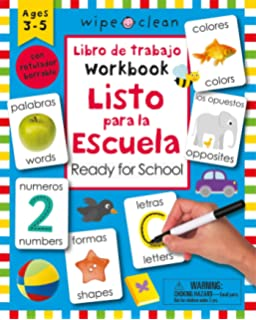 Wipe Clean: Bilingual Workbook Ready for School (Wipe Clean Activity Books) (Spanish