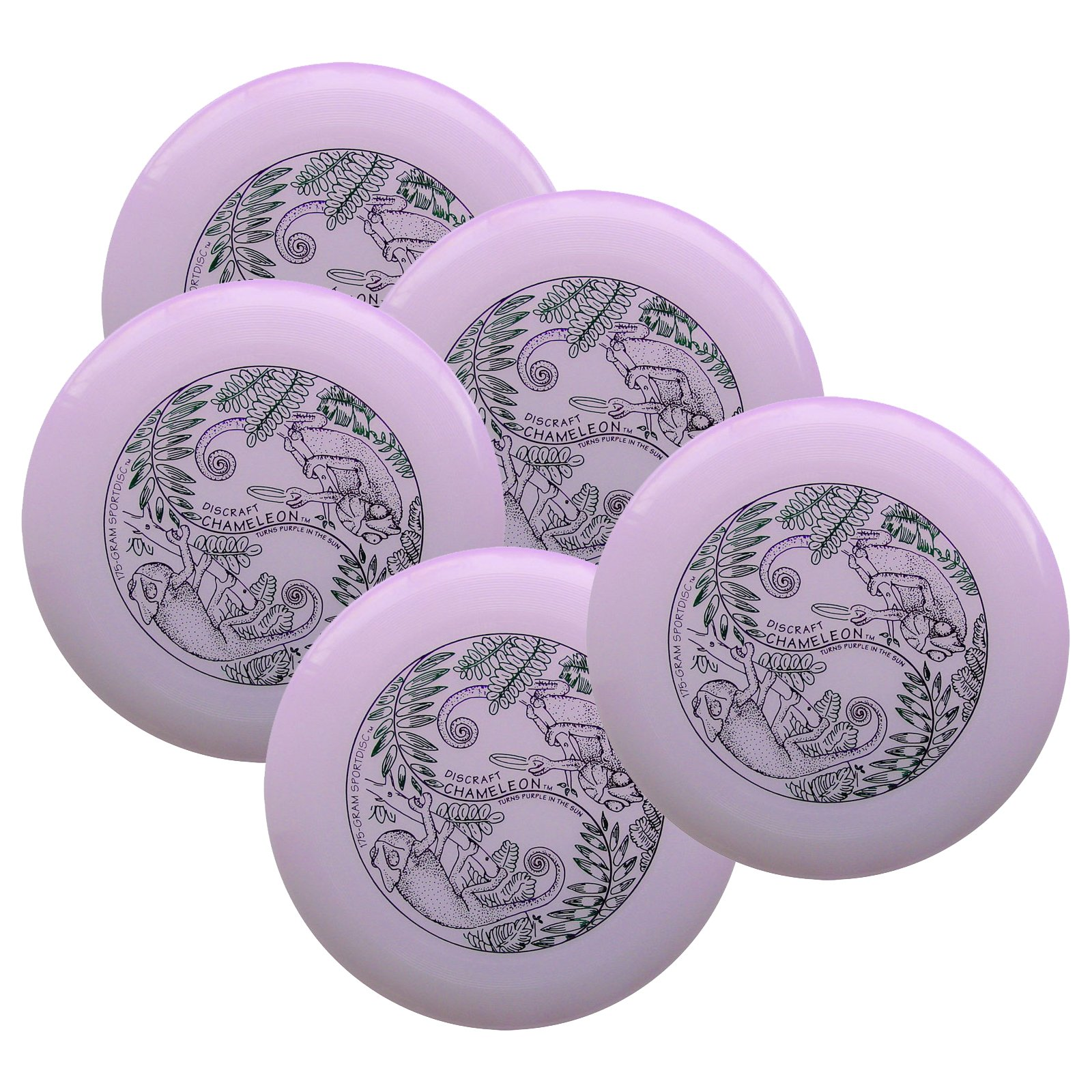 Discraft Ultra-Star 175g Ultimate Sportdisc Ultra Violet (5 Pack) by Discraft