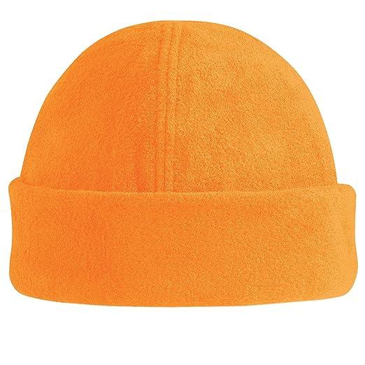 6a8e674acab Amazon.com  Beechfield Suprafleece™ ski hat Fluorescent Orange  Clothing