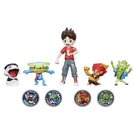 amazon com yo kai watch nate with 4 yo kai figures toys games