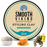 Smooth Viking Hair Clay for Men - Non-Greasy Hair Styling Clay for Matte Finish and Strong Hold - Natural Pliable Molding Cream for Modern Hairstyles - Shine-Free Mens Hair Wax Product - 2 Ounces