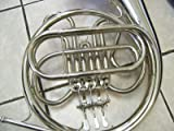 Silver French Horn, 3 key, single, with hard case