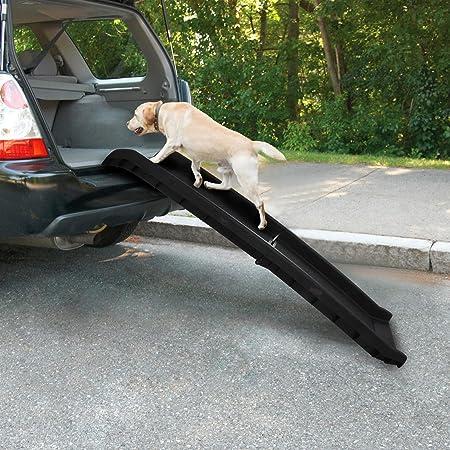 Rampa plegable para perros de PET PRIME para coches, maleteros, SUV, escalera de asiento trasero, ligera, plegable, para perros grandes, carga de hasta 200 libras: Amazon.es: Productos para mascotas